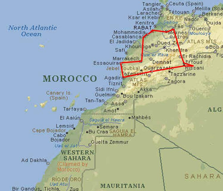 Morocco Tour The Map - Map of morocco