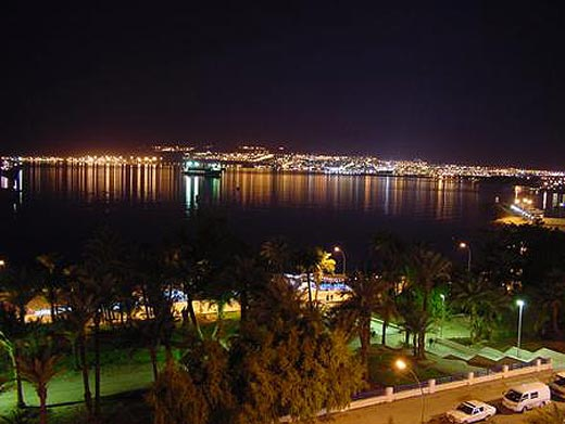 The night view form Aqaba of Red Sea